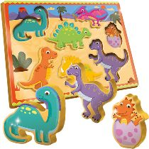 Holzpuzzle Dinosaurier