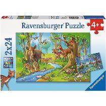 Puzzle Tiere des Waldes