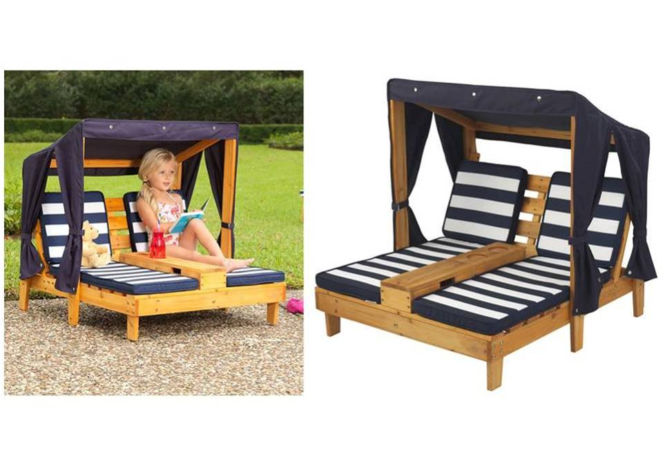 doppel kinderliegestuhl f r den garten deutlich reduziert. Black Bedroom Furniture Sets. Home Design Ideas