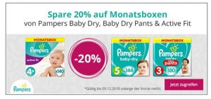 Pampers Monatsboxen