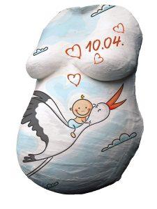 Gipsabdruck vom Babybauch