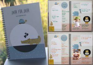 Kinder Erinnerungsbuch Jahr für Jahr