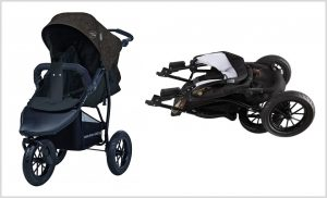 knorr-baby Jogger Joggy S mit Schlummerverdeck, hellgrau-schwarz