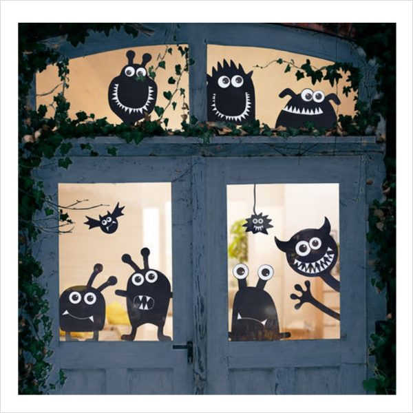 Fenstermonster Halloween Basteln Kinder