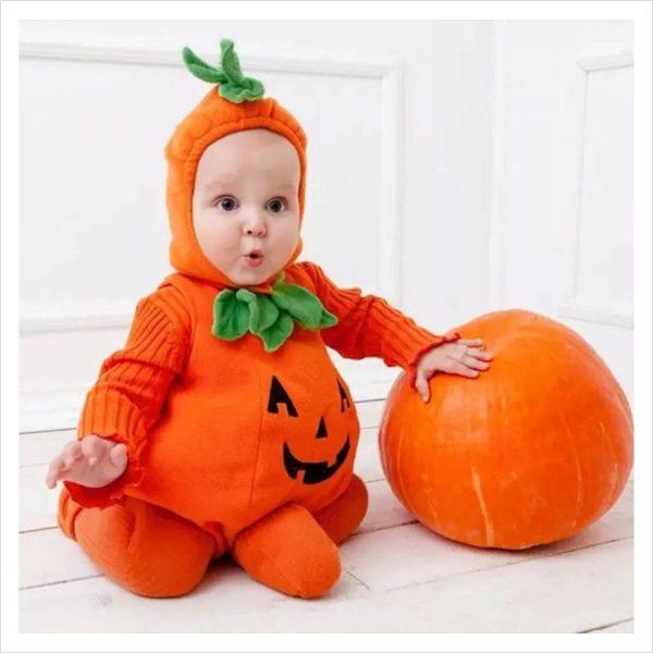 Halloween Kostüm Baby Kürbis