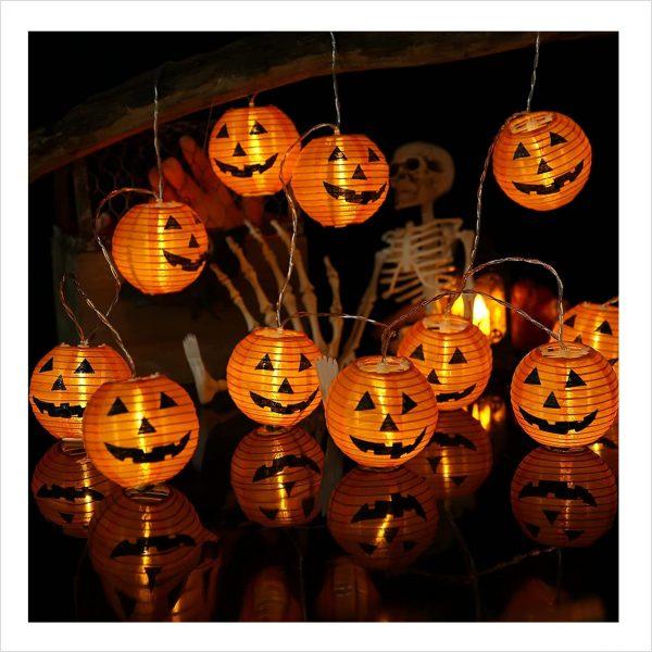 Halloween Lichterkette Kürbis