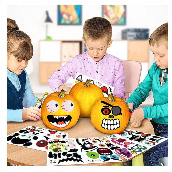 Halloween Kürbis Aufkleber Sticker
